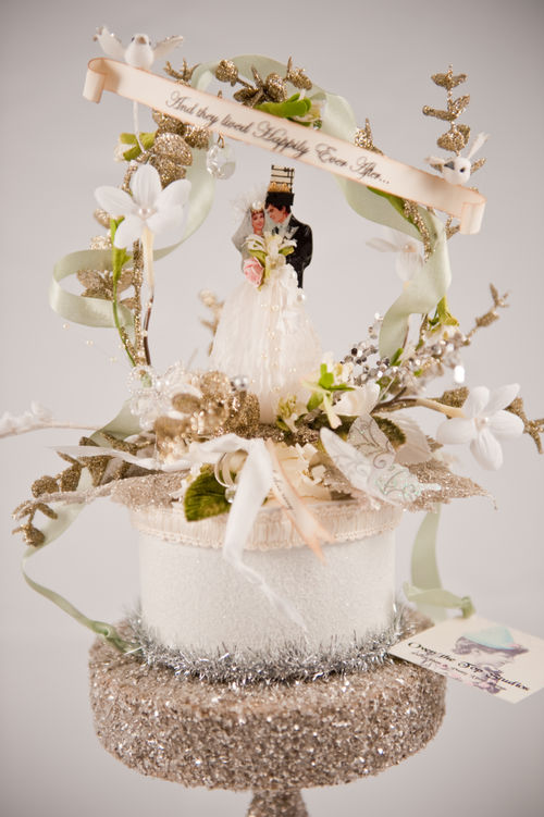 A - And they lived happily ever after wedding topper