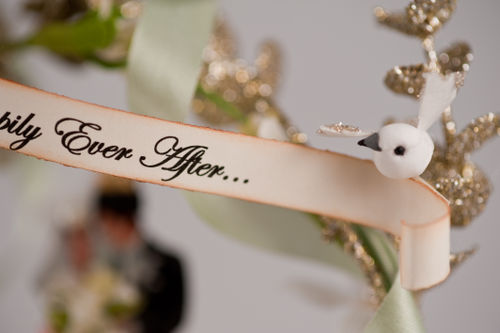 C - And they lived happily ever after wedding topper
